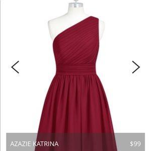 azazie Dresses - Maroon bridesmaids dress